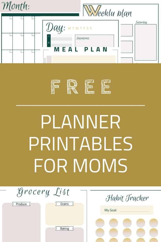 Free Planner Printables for Moms Pin