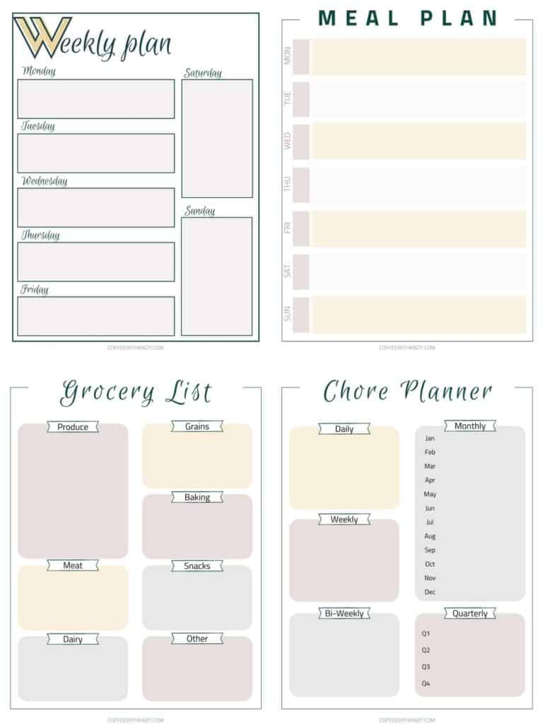 Free planner printables for moms