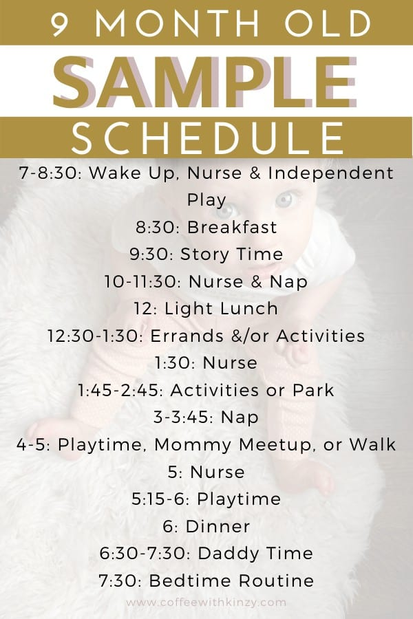 9 Month Old Sample Schedule and Daily Routine for the Stay At Home Mom
