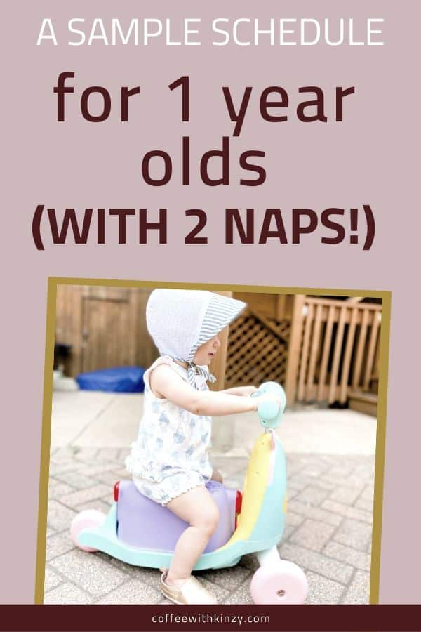 1 Year Old Sample Schedule With 2 Naps