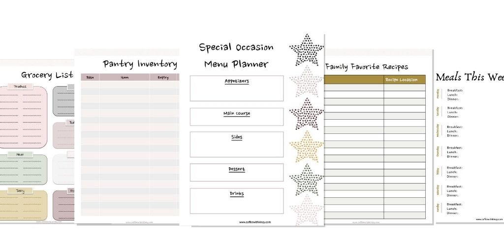 Free meal planning templates!