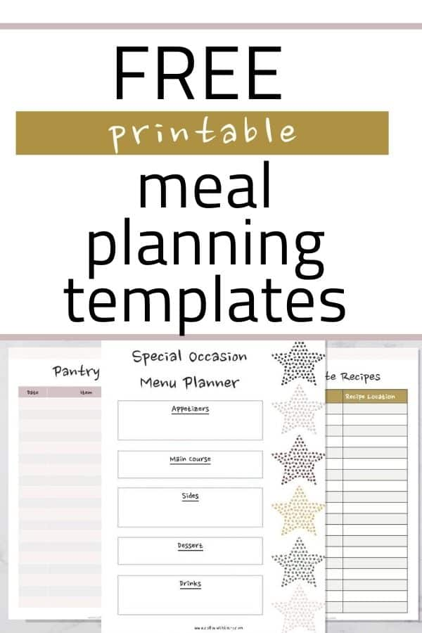 Free Printable Meal Planning Templates Perfect for Families