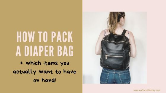 How to pack a diaper bag and what items to include