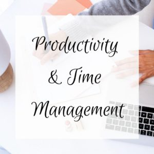 Productivity and time management feature