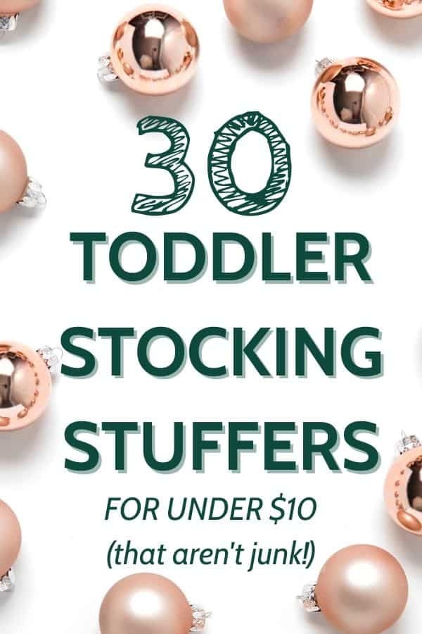 stocking stuffers for toddlers for under 10 dollars