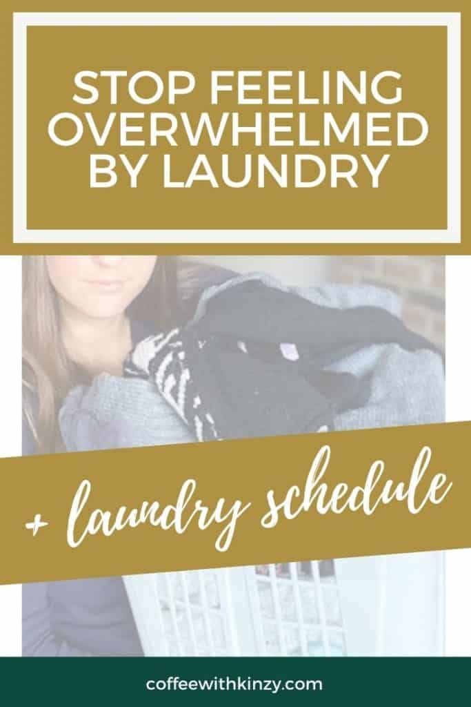 Stop feeling overwhelmed by laundry and get this laundry schedule pdf!