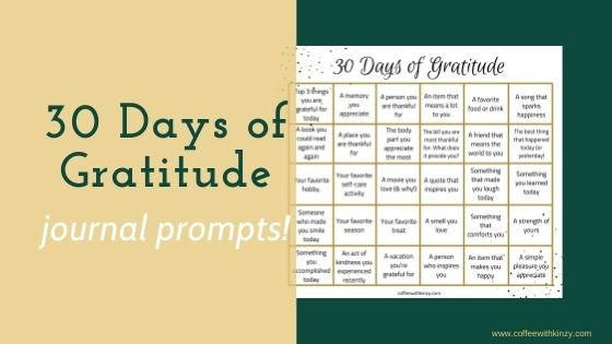 Gratitude Journal Prompts / 30 Day Gratitude Challenge Feature