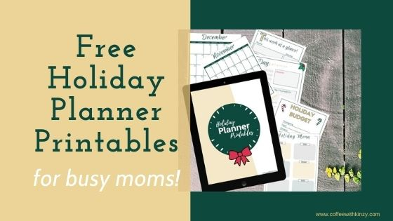 Free Holiday Planner for Busy Moms