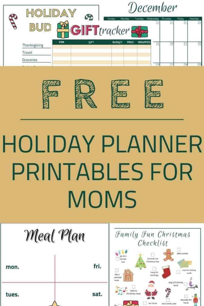 Free Holiday Planner Printables for Moms