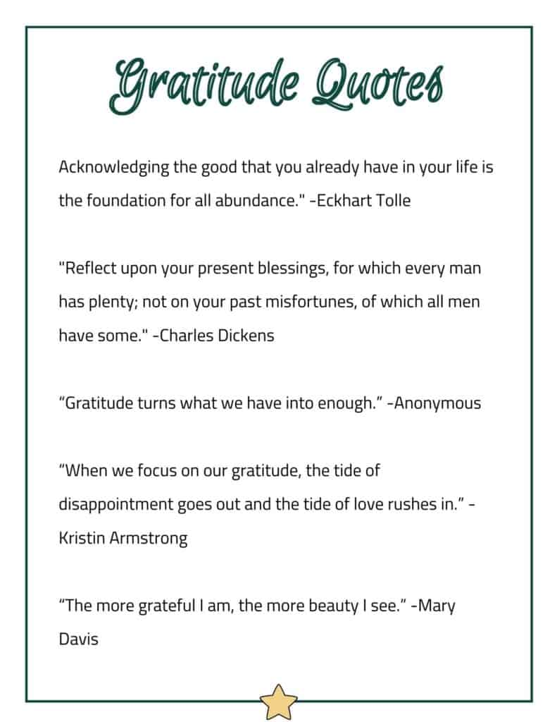 Gratitude Quotes to Put In Your Planner