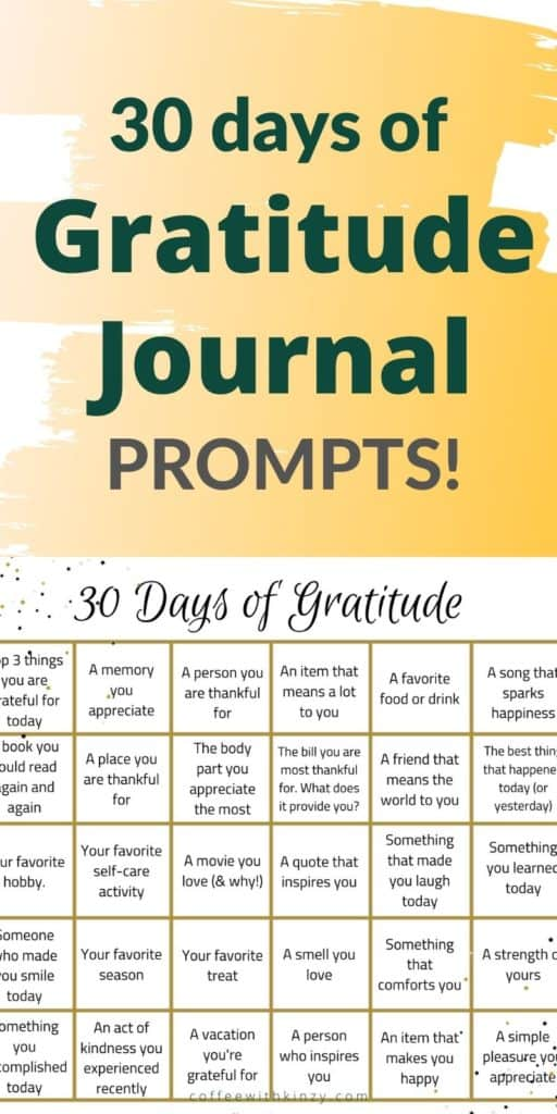 30 Days of Gratitude Journal Prompts