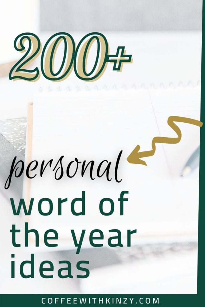 Personal Word of the Year Ideas