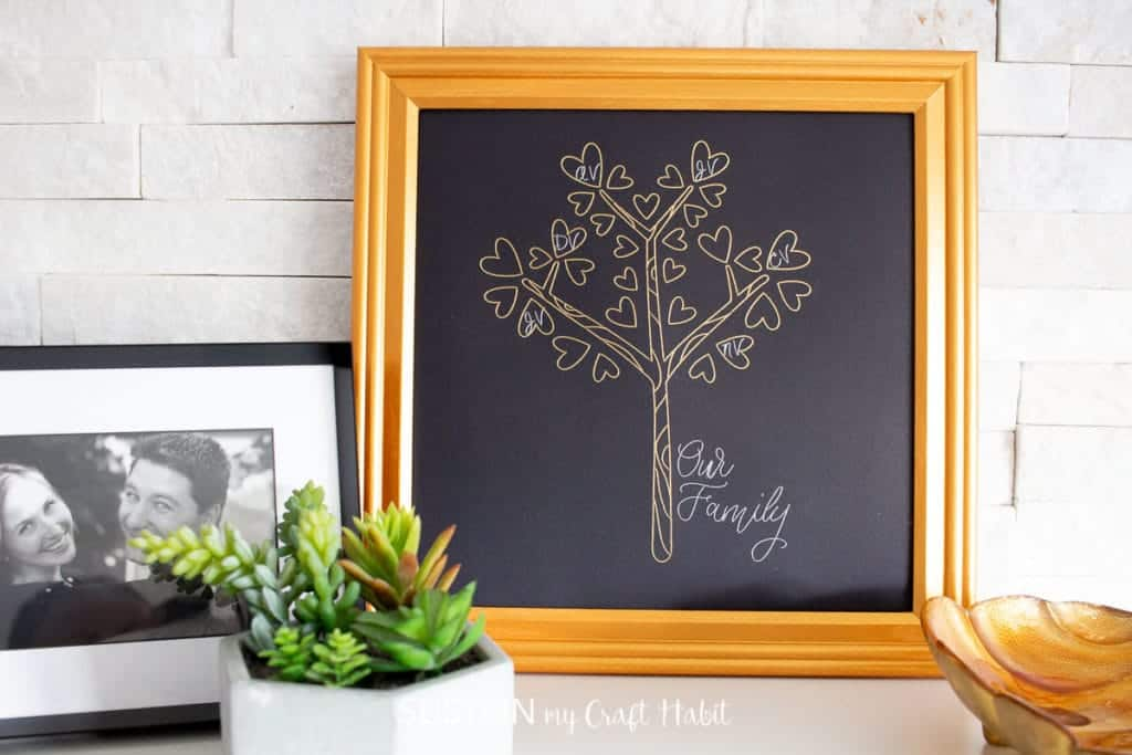 Personalized Family Tree DIY Christmas Gift for Grandparents