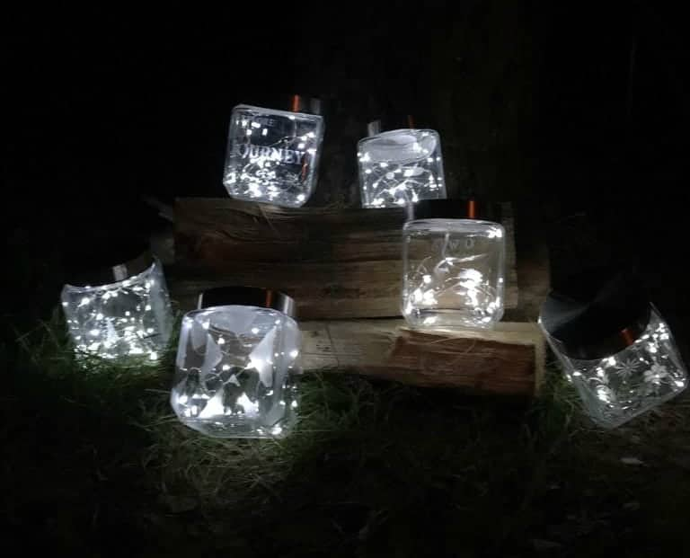 Etched Glass Lantern DIY gifts for grandparents