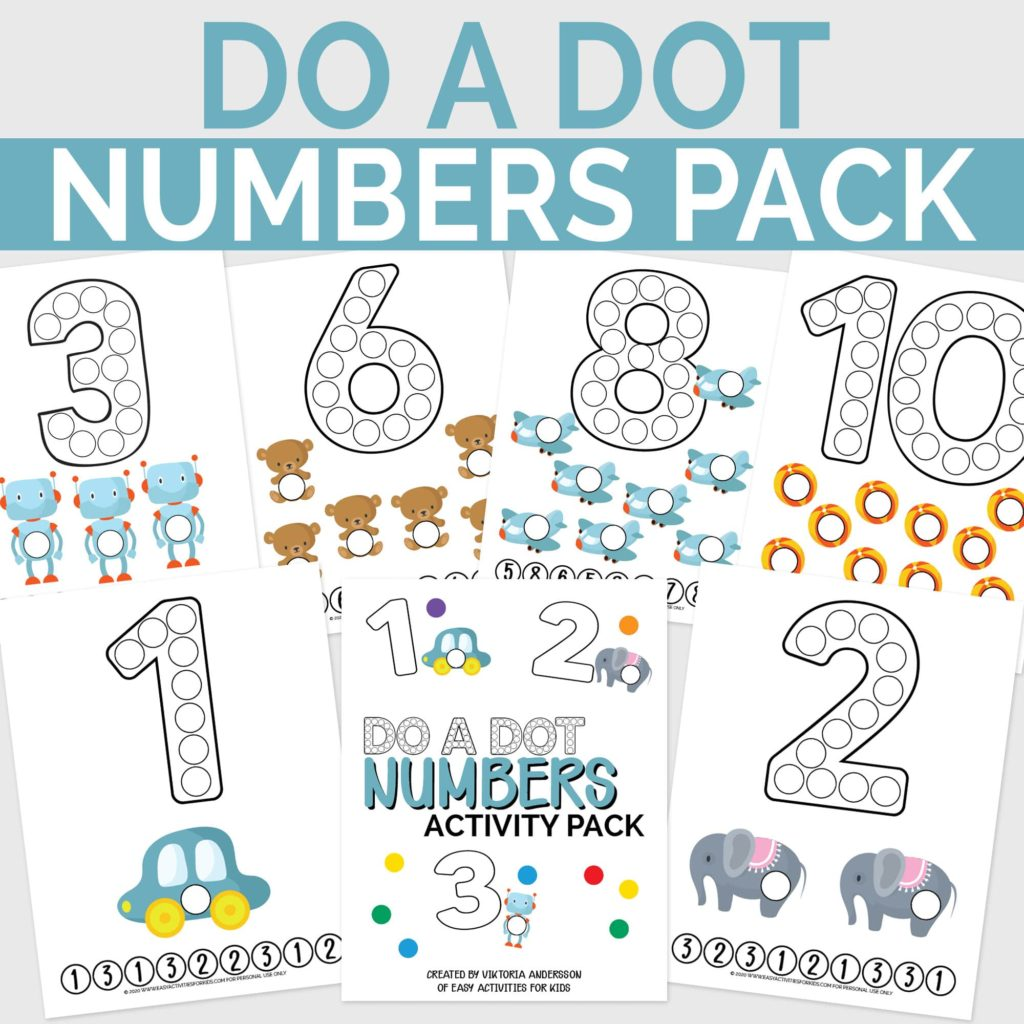 Numbers Dot Activity Pack: Printable Activities for Toddlers