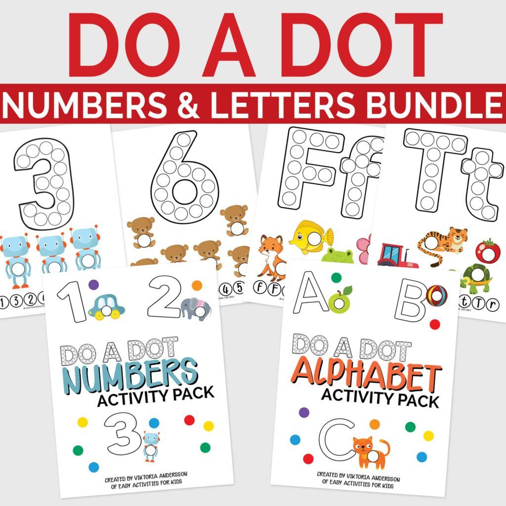 Letters and Numbers Bundle: Printable Activity Worksheets for Toddlers