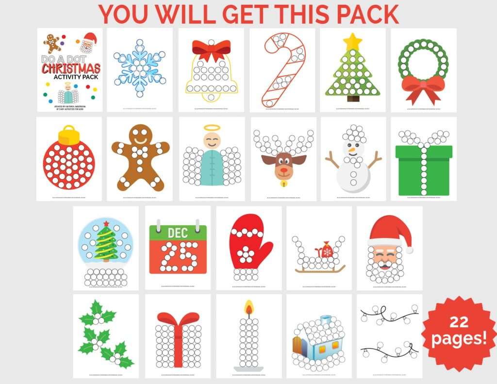 Christmas Printables for Toddlers