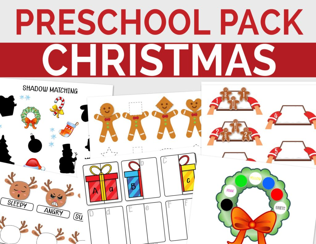 Christmas Activity Printables for Toddlers