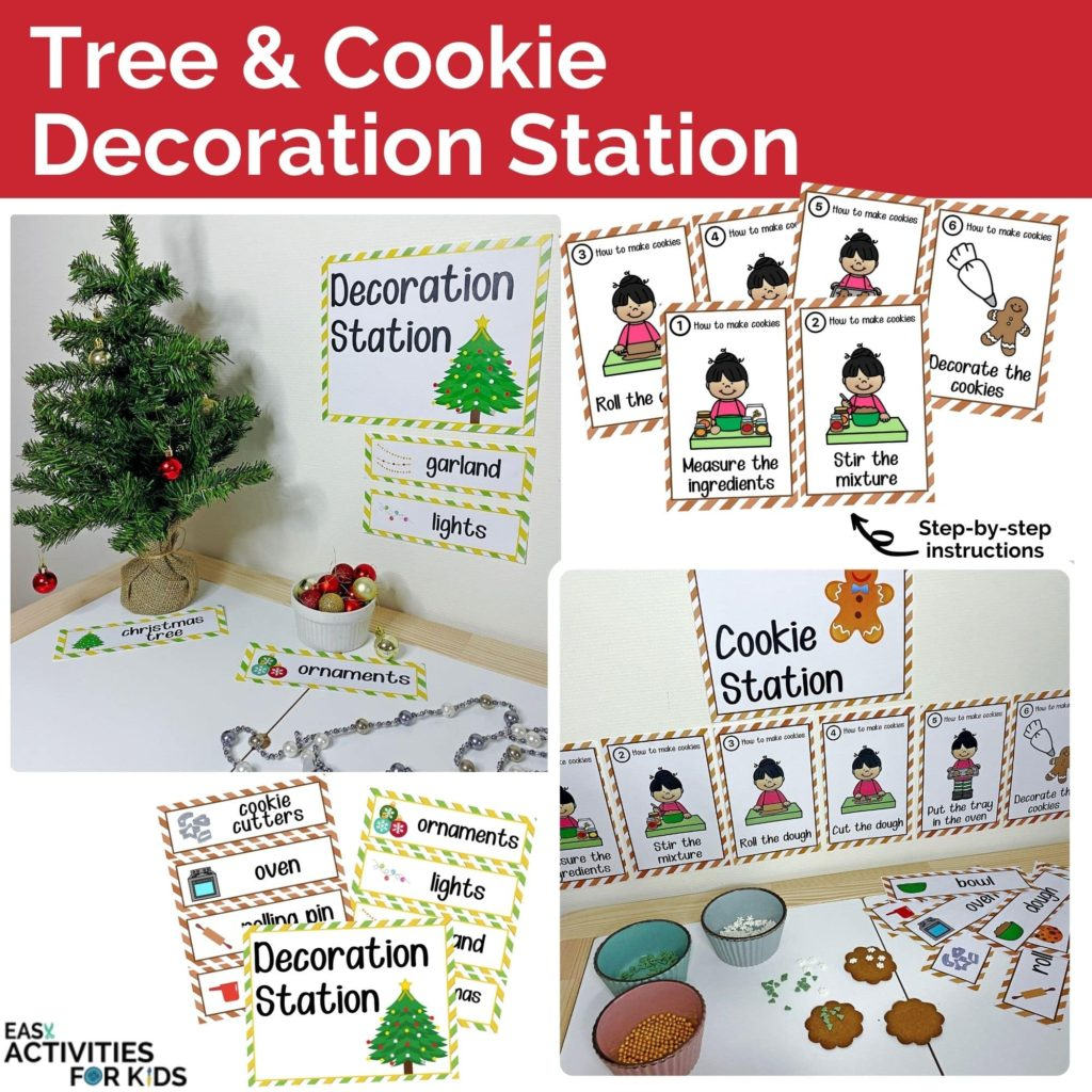 Tree and Cookie Decoration Station