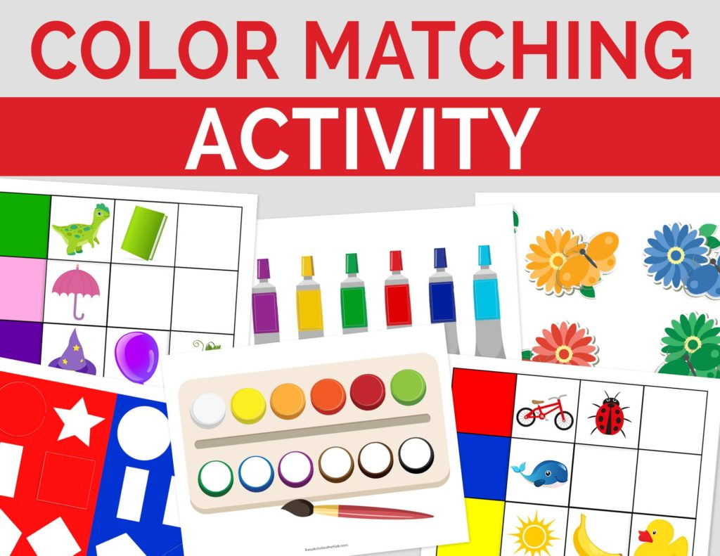 Printable Learning Activities for Toddlers: Color Matching