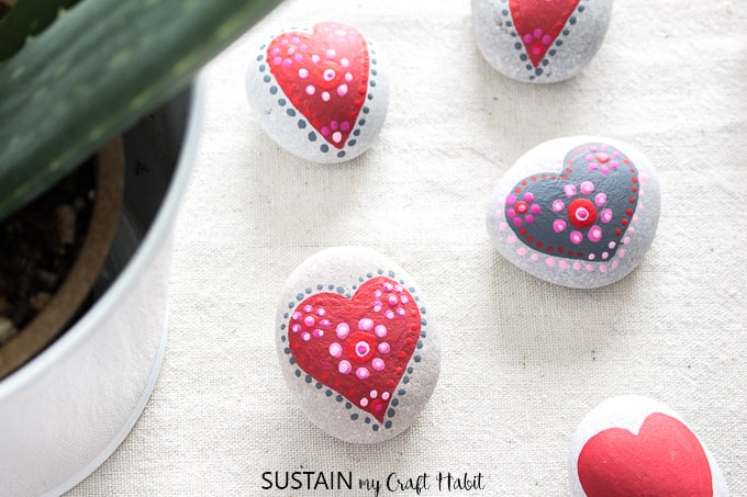 Valentine's Day Activities for Toddlers: Rock Painting