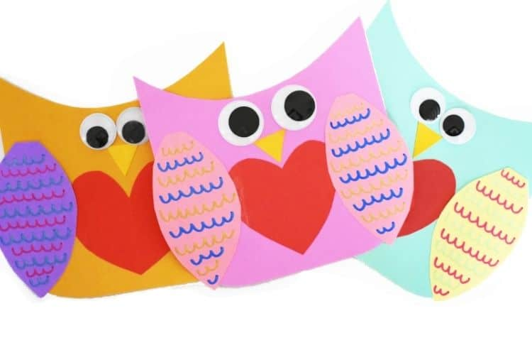 Valentine's Day Toddler Activities: Owl Heart Craft