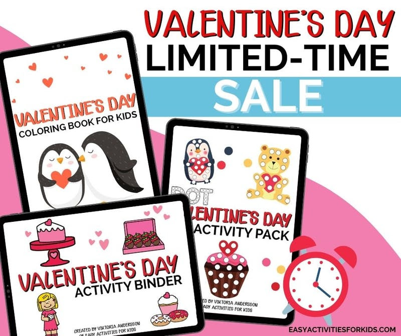 Valentine's Day Activity Bundle for Toddlers