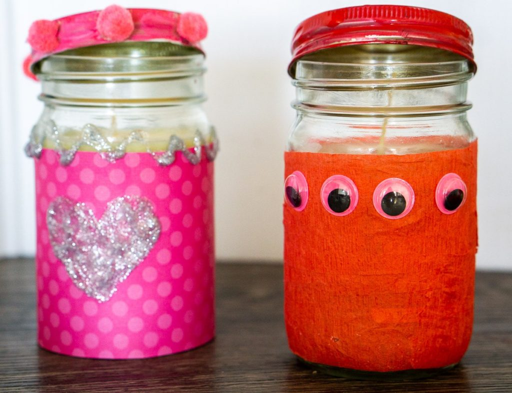 Valentine's Day Toddler Activities: Decorate a Candle Jar