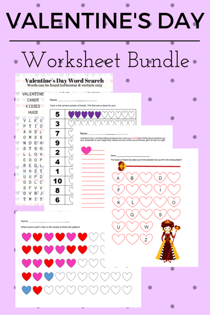 Free Valentine's Day Worksheets for Toddlers